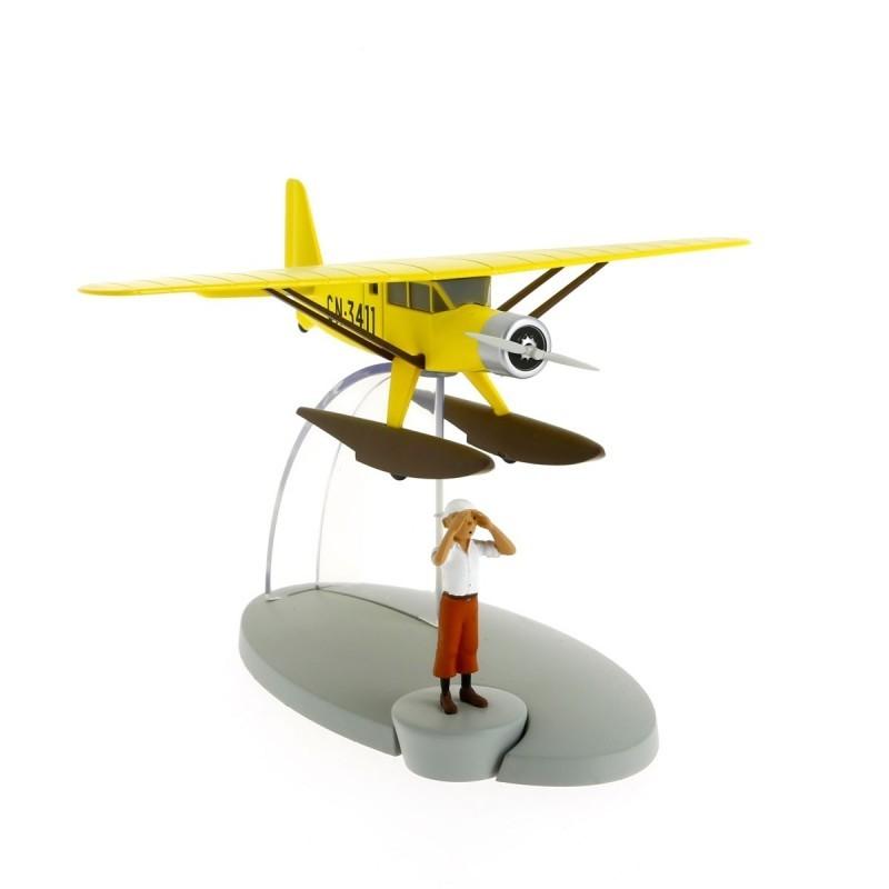 Avion Moulinsart Tintin - Fig #01 Hydravion jaune + Tintin