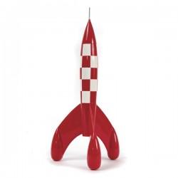 Figurine Moulinsart Tintin - Fusée lunaire 15cm (résine)