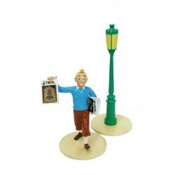 """Plomb Moulinsart Tintin - """"Lisez Tintin """" Tintin + Réverbère"""