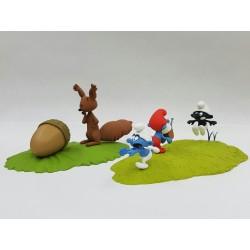 Fariboles Peyo Schtroumpfs - La chasse du Schtroumpf Noir