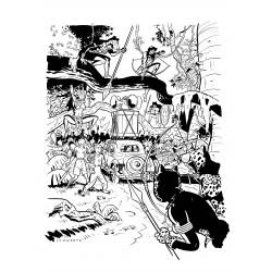 Sérigraphie Schwartz Spirou - Le Maître des Hosties Noires (N&B)