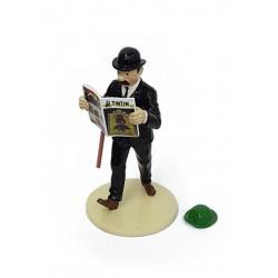 "Plomb Moulinsart Tintin - ""Lisez Tintin"" Dupond + Chapeau Tournesol"
