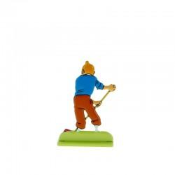 Relief Moulinsart Tintin - Fig 28 Tintin au balai
