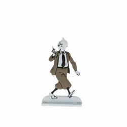Relief Moulinsart Tintin - Fig 42 Tintin sermonne Ile noire (N&B)