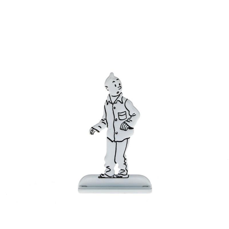 Relief Moulinsart Tintin - Fig 43 Tintin en pyjama Sceptre Ottokar (N&B)