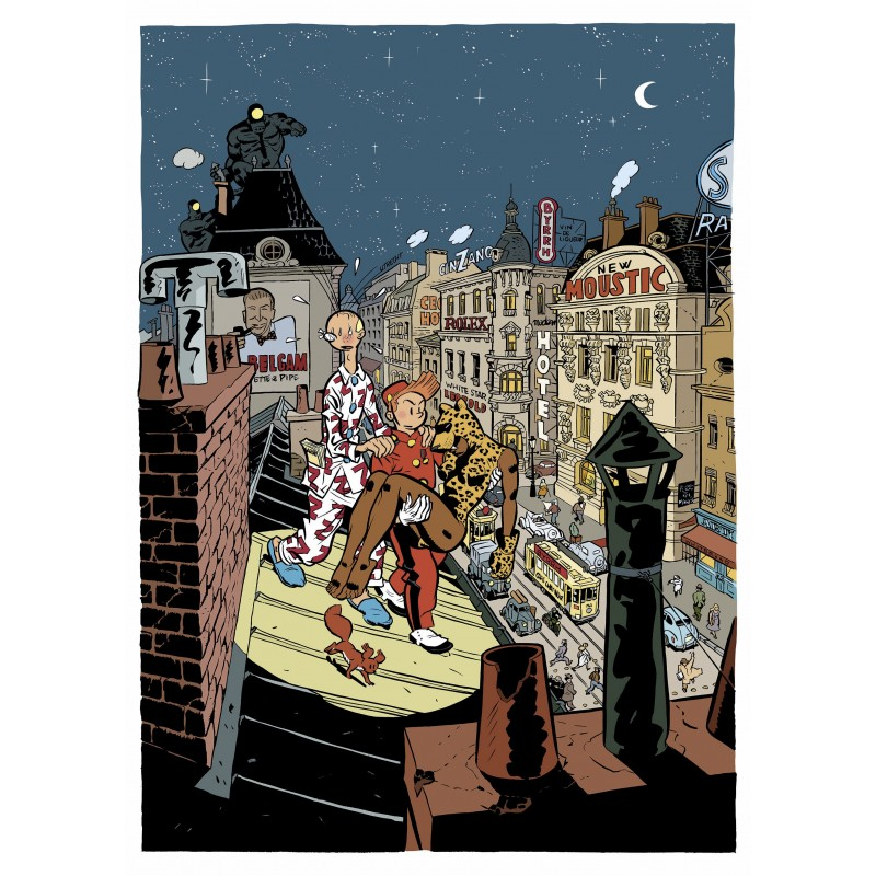 Tirage d'art Schwartz Spirou - La Femme Léopard illustration inédite (Couleur)