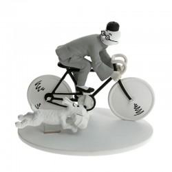 Figurine Moulinsart Tintin - Hors série 3 Tintin à vélo Lotus Bleu