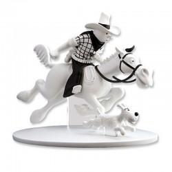 Figurine Moulinsart Tintin - Hors Série 2 Tintin à cheval Amérique